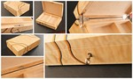 Quilted Maple Jewellery Box by Neal Jones